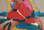 Little rose, little rose, little rose red, 2015, acrylic on canvas, 29 x 43 cm