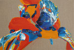Knode 2, 2015, acrylic on canvas, 29 x 43 cm