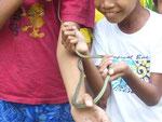 Wir haben uns eine Schlange gefangen....