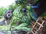 Zum Neujahrsfest bauen Balinesen solche Gestalten