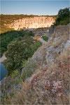 Sonnenaufgang an der Ardèche, Cirque de Gens, Chauzon