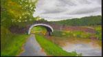 """""""Chorley Canal"""" (Inghilterra) Olio su tavola - 16x26 - 2012 - Collezione privata"""