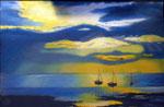 """""""Sunset after the storm"""" Olio su tavola - 18x28 - 2012 - Collezione privata"""