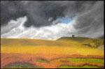 """""""Rivington Pike, country side"""" (Inghilterra) Olio su tavola - 17x27 - 2012 - Collezione privata"""