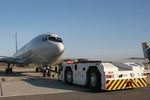 "NATO Airbase Geilenkirchen - ETNG - Movement area - ""Pushing TCA Boeing 707"""