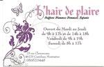 """Coiffure"""" Hair de Plaire"""""""