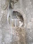 ... und rechts davon eine kleine Gedenkstätte direkt in den Fels gehauen.