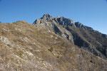 der Gipfel des Monte Torragio zum Besteigen