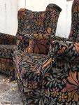 Réfection des assises et couverture avec le tissu Casal Mucha