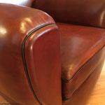 Fauteuil Club : Réfection complète traditionnelle