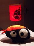 Lampe magique pirate et coussin