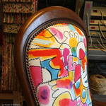 Fauteuil Voltaire : tissu Kirkby Design Mallowland Fizzy