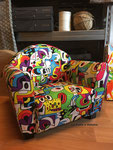 "Fauteuil Club enfant : Tissu Kirkby Design ""Frooty Tooty Tropical"""