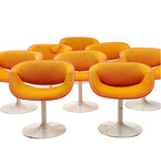Pierre Paulin, set of eight Swivel Chairs for Artifort, 1960s
