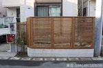 WF-035 千葉県船橋市U様 ウッドフェンス工事