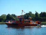 Lotsenversetzboot im Nord- Ostseekanal in der Weiche Schülp