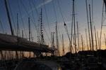 Abendstimmung im Hafen von Tunö