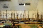 Diorama des Hafens von Marstal um die vorletzte Jahrhundertwende