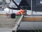 Krebse angeln - meistens bäuchlings