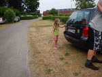 Abschied von Chiara - alles im Auto verstaut