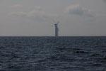 Windräder ins Meer südlich Samsö gepflanzt