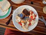 Entrecote mit Tomaten- Schafskäsesalat
