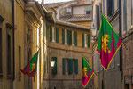 Geschmücktes Stadtviertel in Siena Toskana