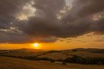 Abendstimmung bei Volterra Toskana