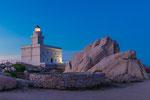 Leuchtturm am Capo Testa  zur blauen Stunde