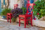 Rote Stühle Afionas