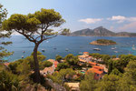 Blick über San Telmo auf Isla Dragonera