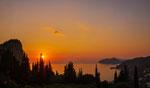 Sonnenuntergang oberhalb Agios Gordis