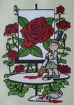 薔薇を描く