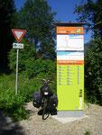 Je suis dans le Pustertal (Val Pusteria).
