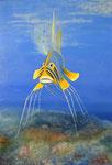 Das Fisch, Öl auf Leinwand, 80x115 cm 2014. The fish, oil on vanvas.