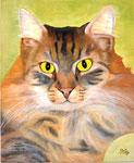 Kitty, Öl auf Holz 46x38cm, 2012. Oil on wood.