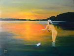 Sommertraum / Summerdream, Öl auf Leinwand 80x60cm, 2013. Oil on Canvas