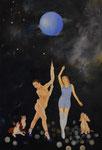Suche nach intelligenten Leben / looking  for intelligent life. Öl  auf Leinwand, 45 x65 cm, 2019, Oil on canvas