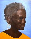 Afrikanerin, Öl auf Holz 39x48cm, 2009.