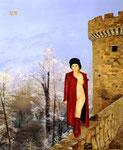Winter auf Plankenstein, Öl auf Leinwand, 80x60 cm, 2014,  Oil on Canvas.