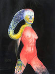 EUA2049 No.17.146.641, Pastell und Acryl, 29x39 cm., 2016. Pastel on paper.