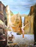 Angewurzelt /Rooted,  Öl auf Leinwand, 80x100 cm, 20154. Oil on canvas.