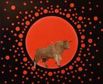 Der rote Planet (óle),  Öl auf Leinwand 110 x 90 cm. The red planet (óle). 2017.