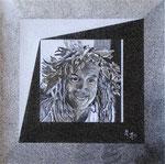 Portrait de Bobby - 40 x 40 - VENDU