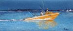 Départ de pêche - 69 x 30 - VENDU