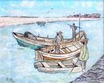 Pêche traditionnelle - 30 x 24 - VENDU