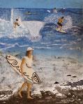Surf à Papara - 58 x 46 - A VENDRE