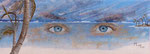 Bleu comme ses yeux - 56 x 21 - VENDU
