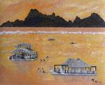 Sunset à Taapuna - 40 x 32 - VENDU