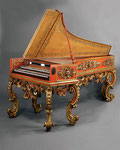 A Unique and Highly Important Neapolitan double-manual Cembalo-Tiorbino (Theorbo-Harpsichord) attributed to Gasparre Sabbatino Naples, Circa 1710, © PELHAM GALLERIES